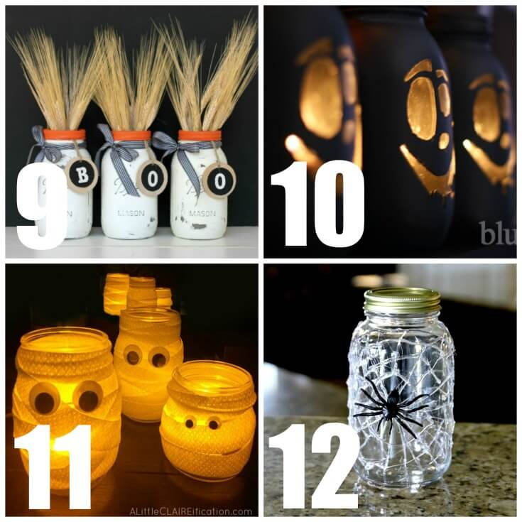 These cute mason jar craft ideas are sure to please. You'll never run out of fall decor ideas with these mason jar fall decorating crafts. #masonjarcrafts #diy #falldecor #fall #craft